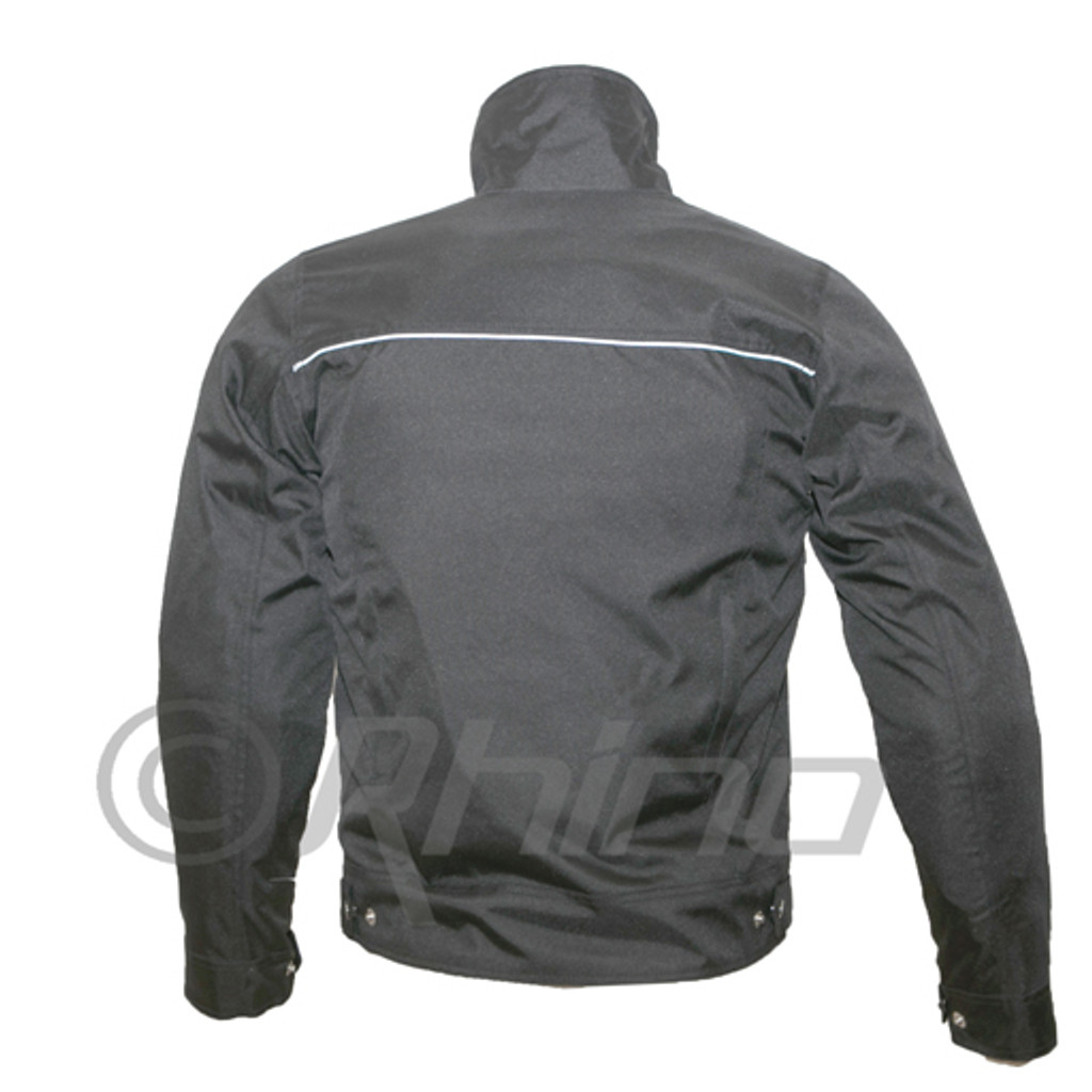 Invictus Black Textile Cordura Moto Jacket with Vents & Armour
