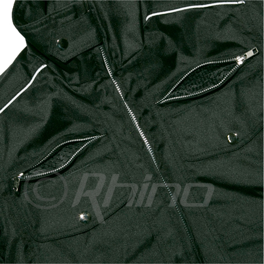 Black Cordura Moto Jacket with Vents & Armour