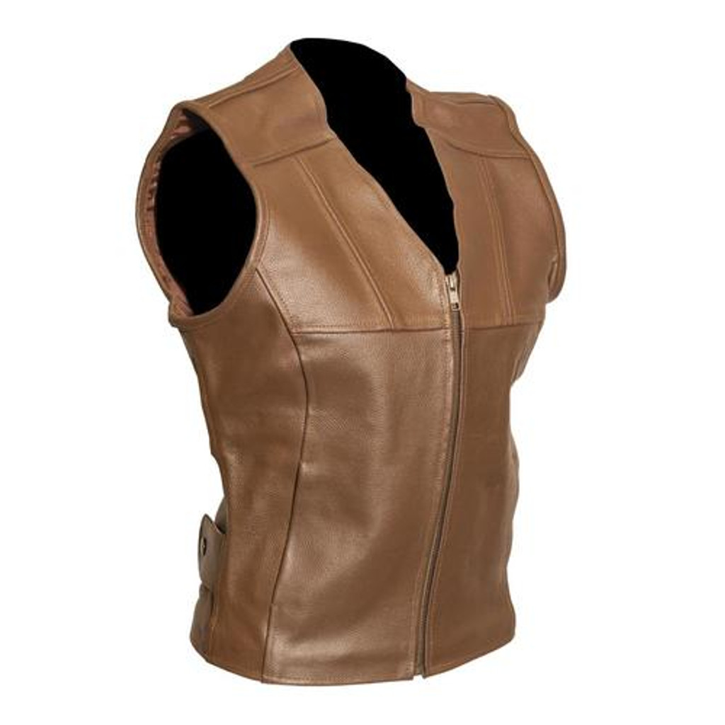 Tara Brown Leather Fashion Vest (4, 6, 8 ONLY)