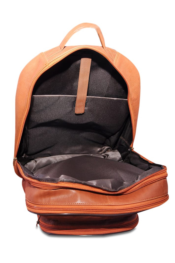 Large Leather Laptop Backpack - Black Brown or Tan - Everest