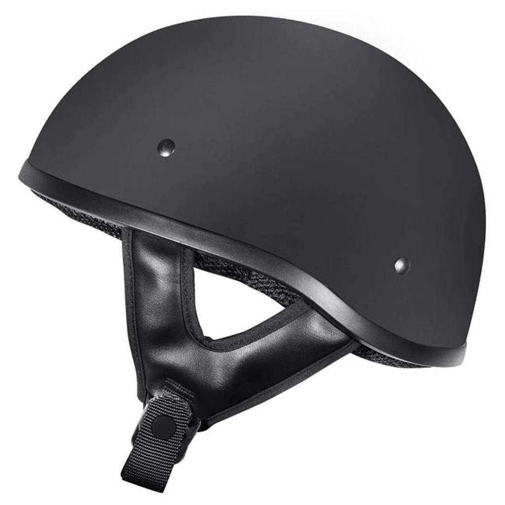 Dririder Street Shorty Open Face Helmet - Matt Black