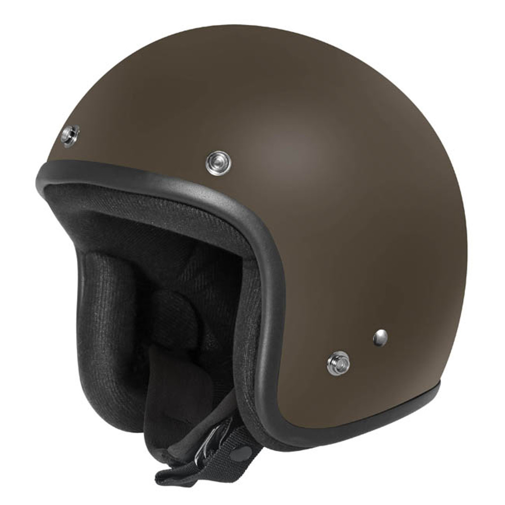Dririder Base Open Face Helmet - Matt Brown