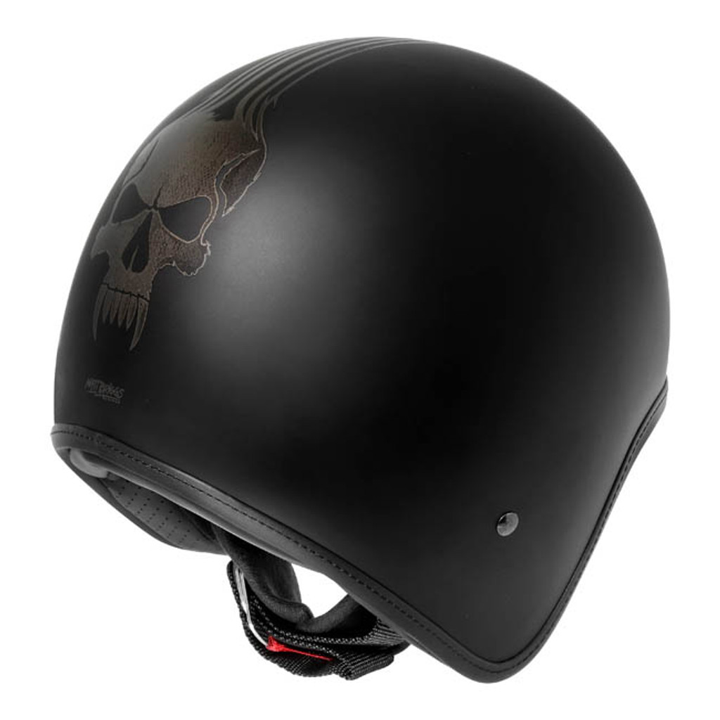 Dririder Base Open Face Helmet - Bones Matt Black