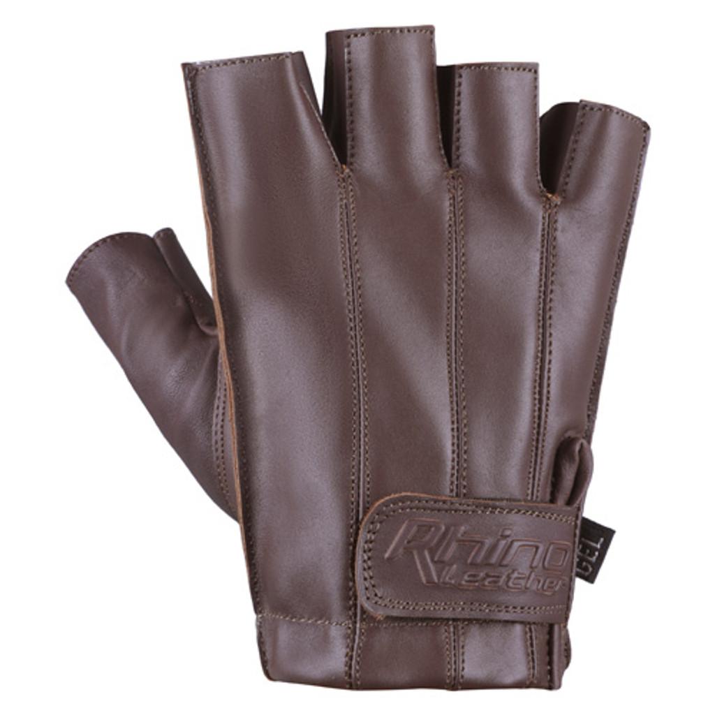 Brown Half Finger Motorcycle Gloves