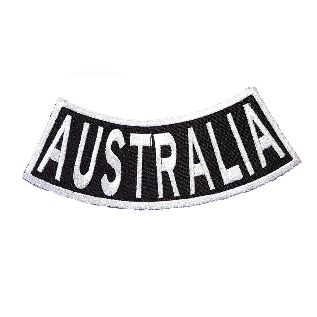 Australia Black White Rocker Patch