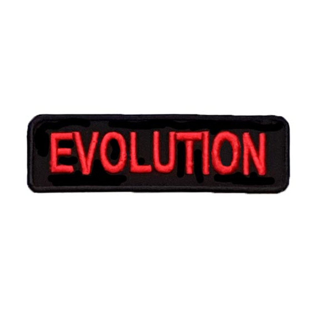 Motorcycle Rider Embroidered Patch Evolution Black Red