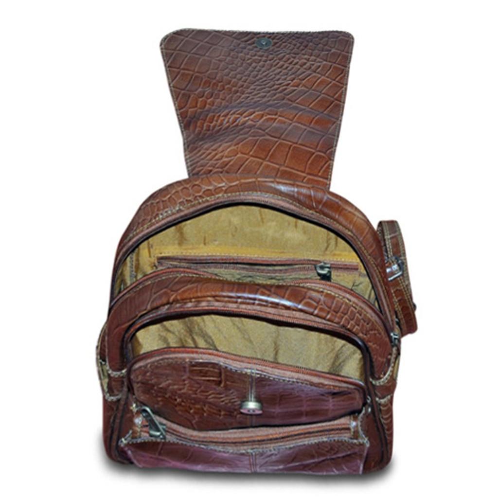 Leather Backpack - laptop pocket