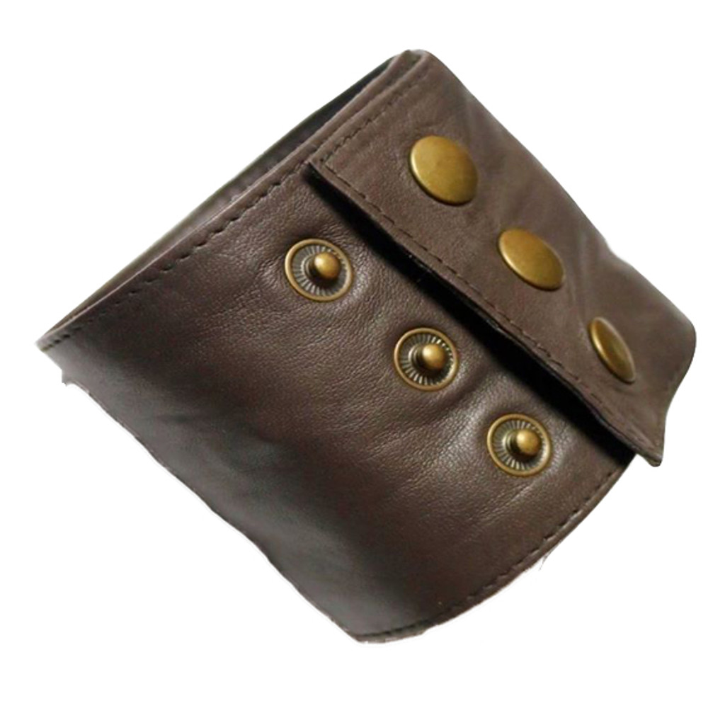 Brown Leather Wristband Wallet