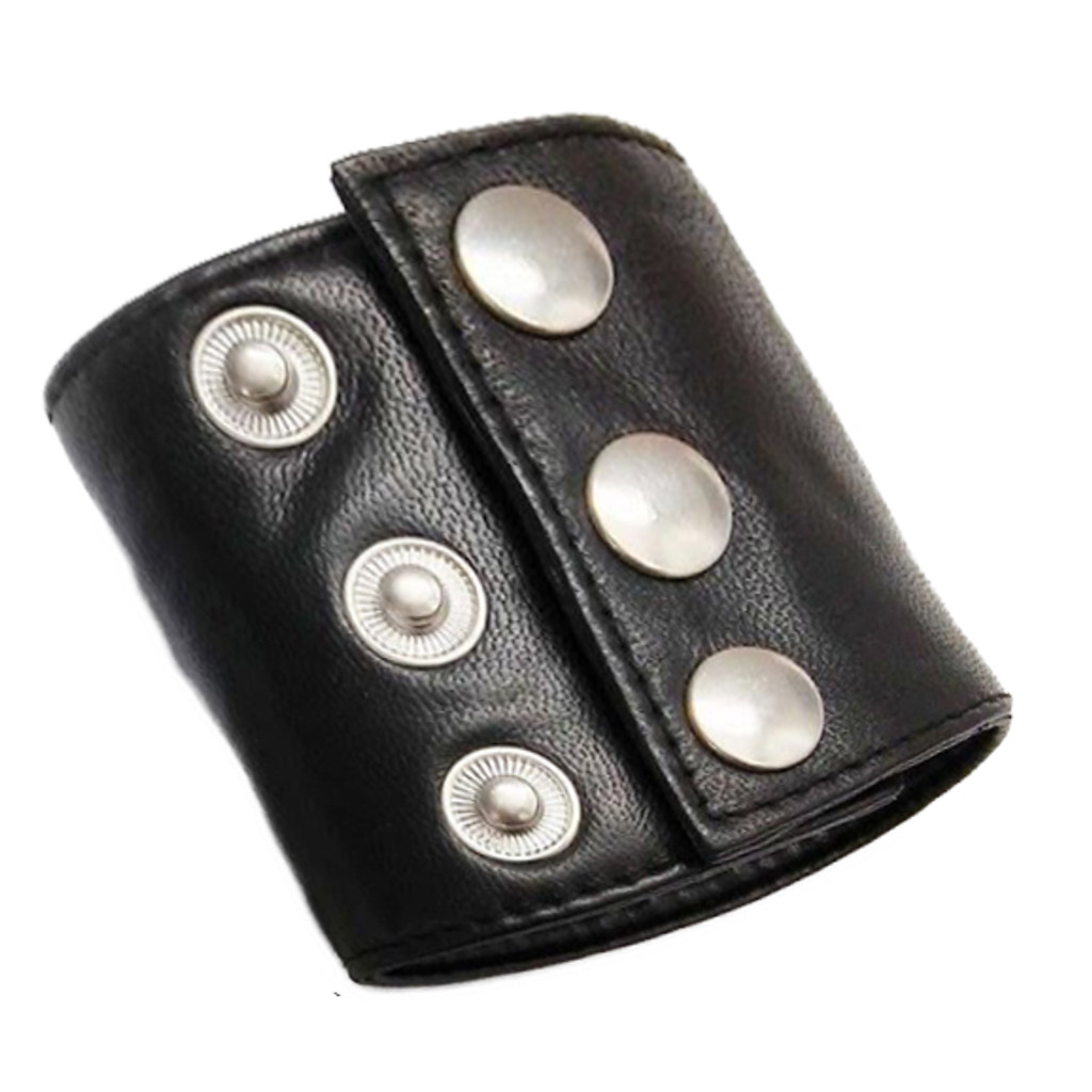 Black Leather Wristband Wallet