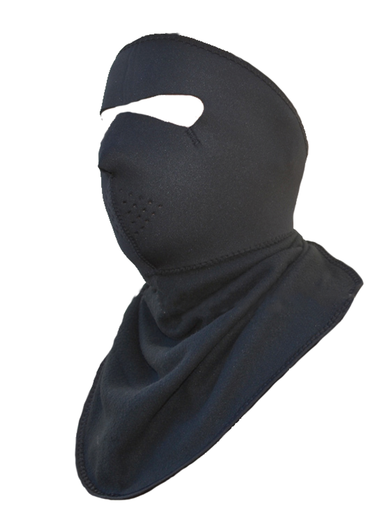 Neoprene Black Full Face Mask with Neck Protector