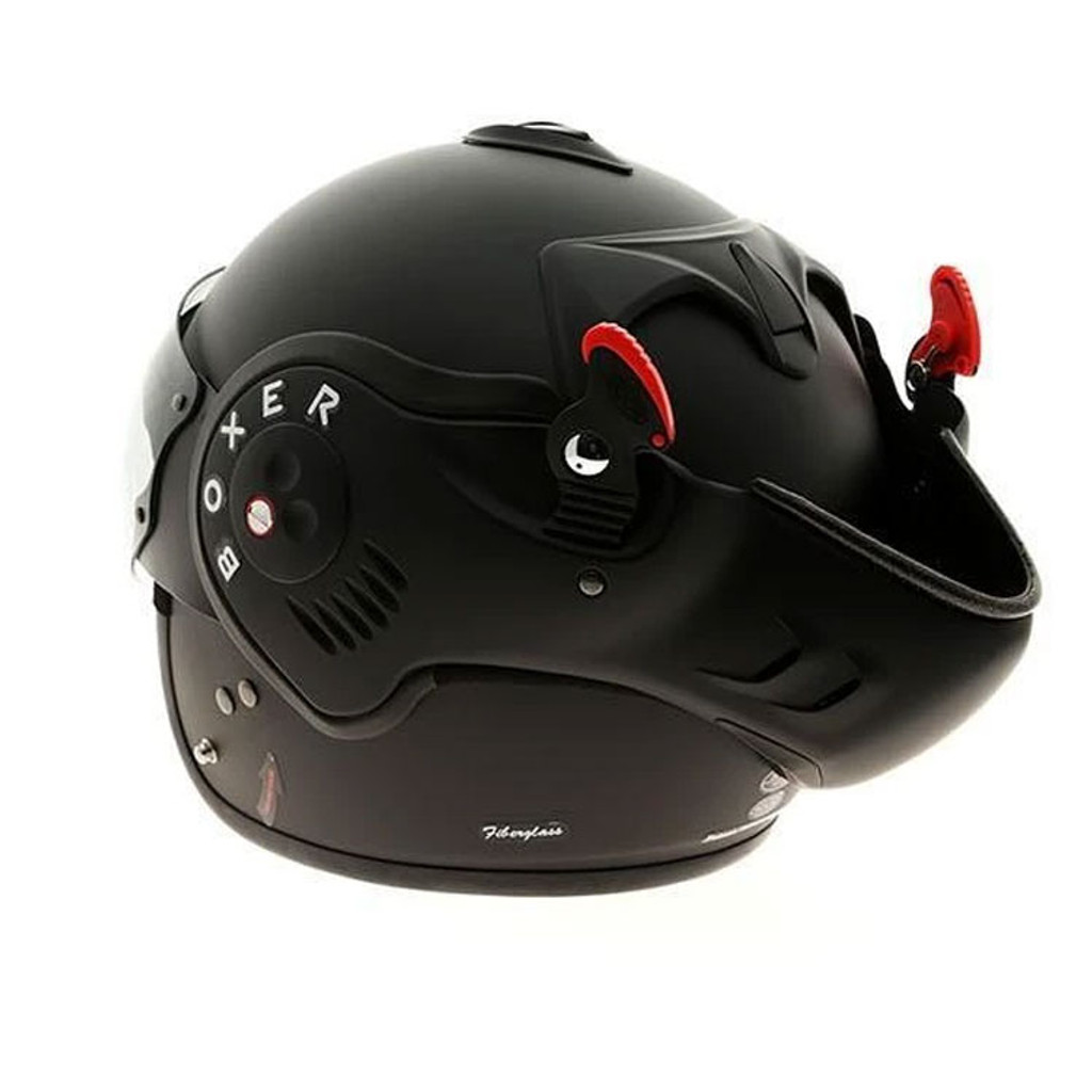 Roof Boxer V8 Full Black Helmet