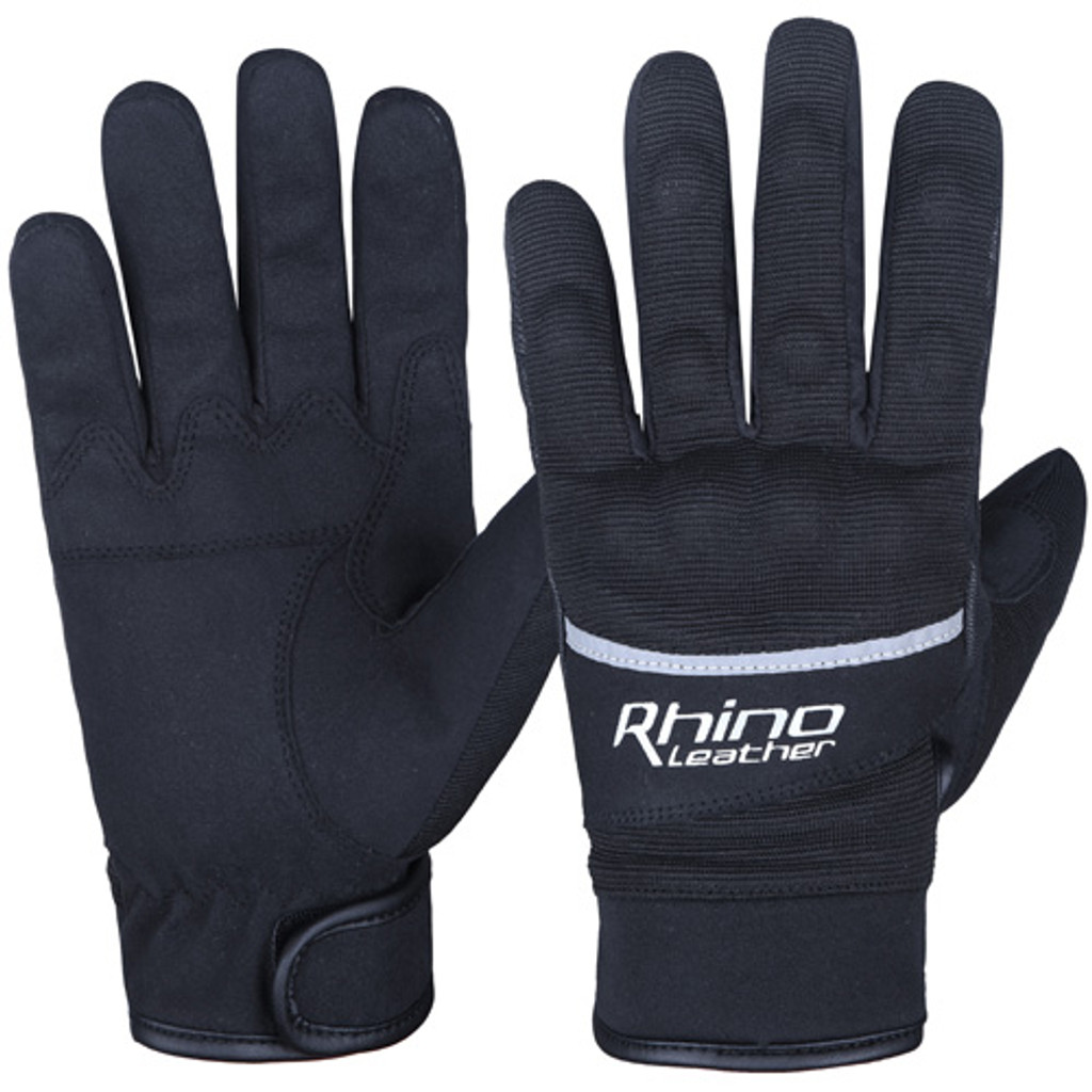 Black Lightweight Waterproof Motorcycle Gloves with knuckle protection