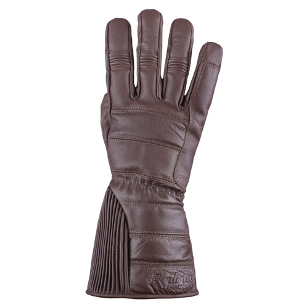 Brown Gauntlet Motorcycle gloves