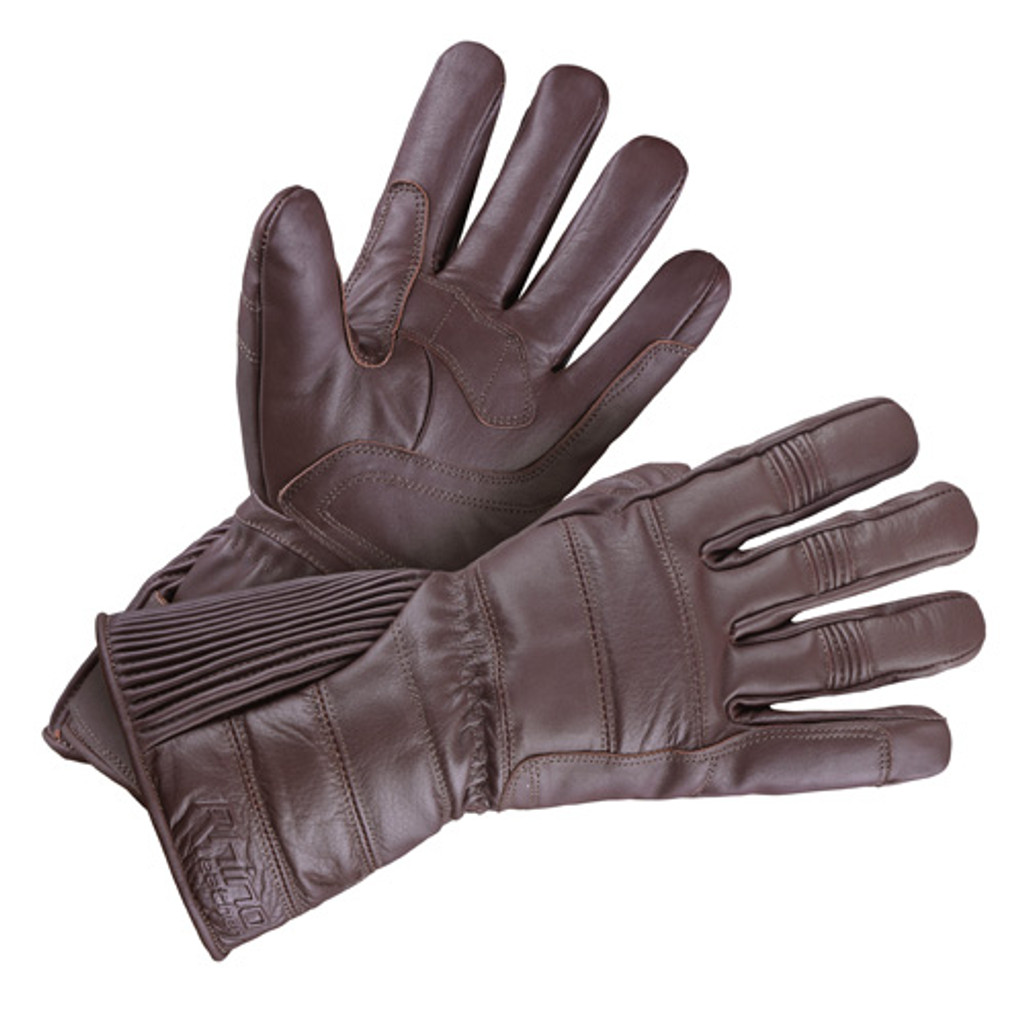 Brown Gauntlet Gloves