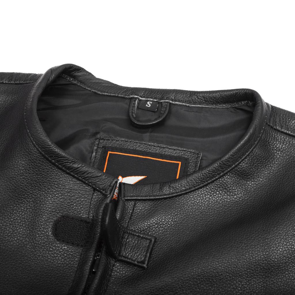 Tactical Style Bikers Black Leather Vest