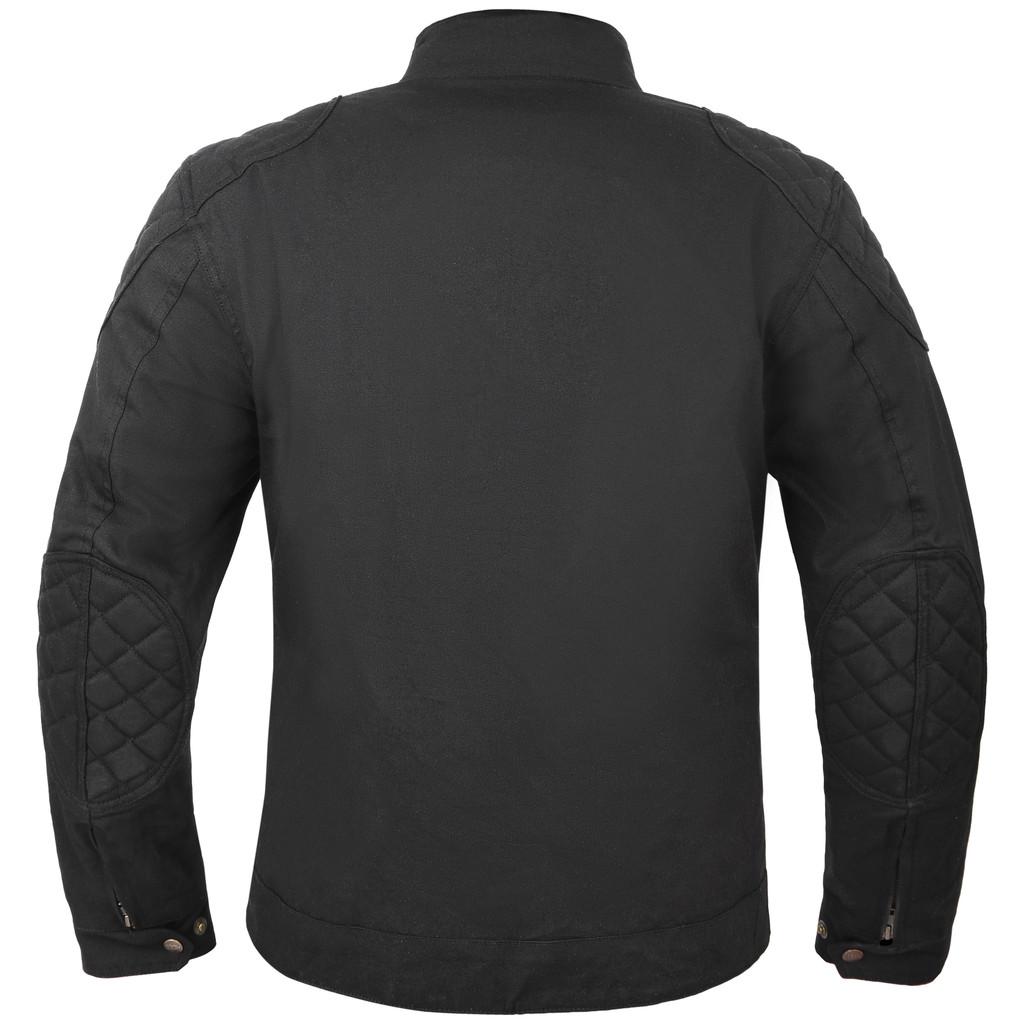Waxed cotton sports jacket