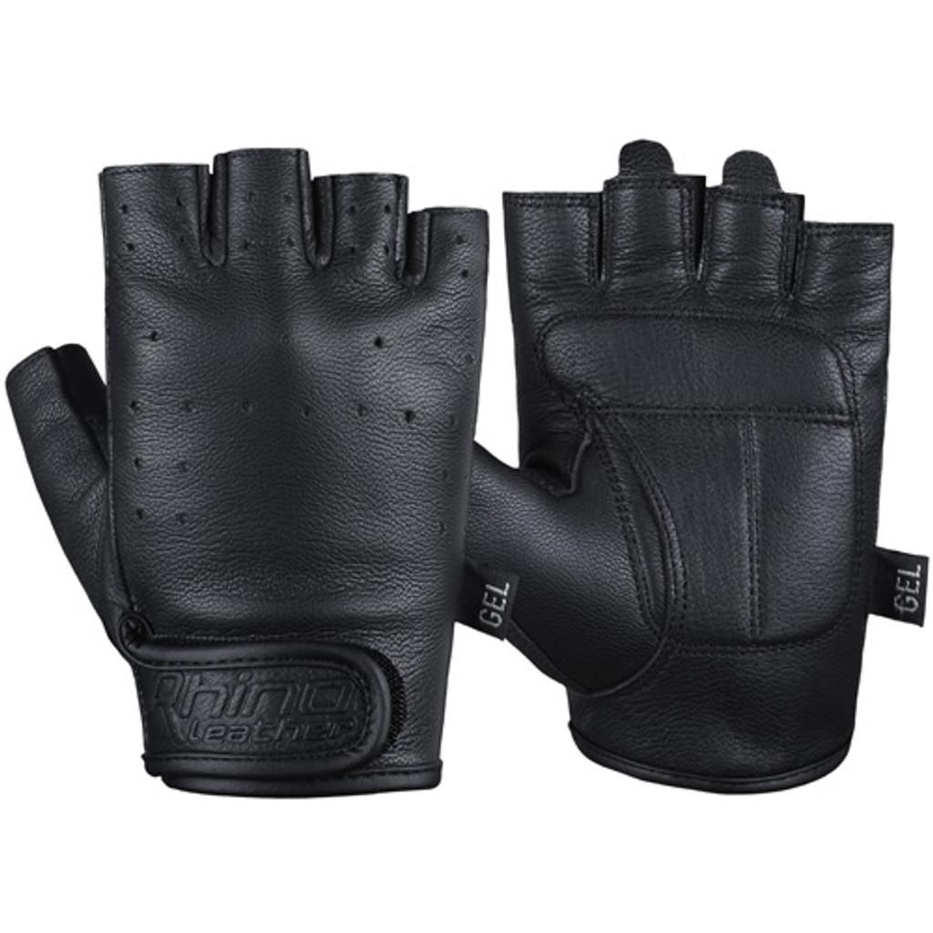 Fingerless motorcycle gloves