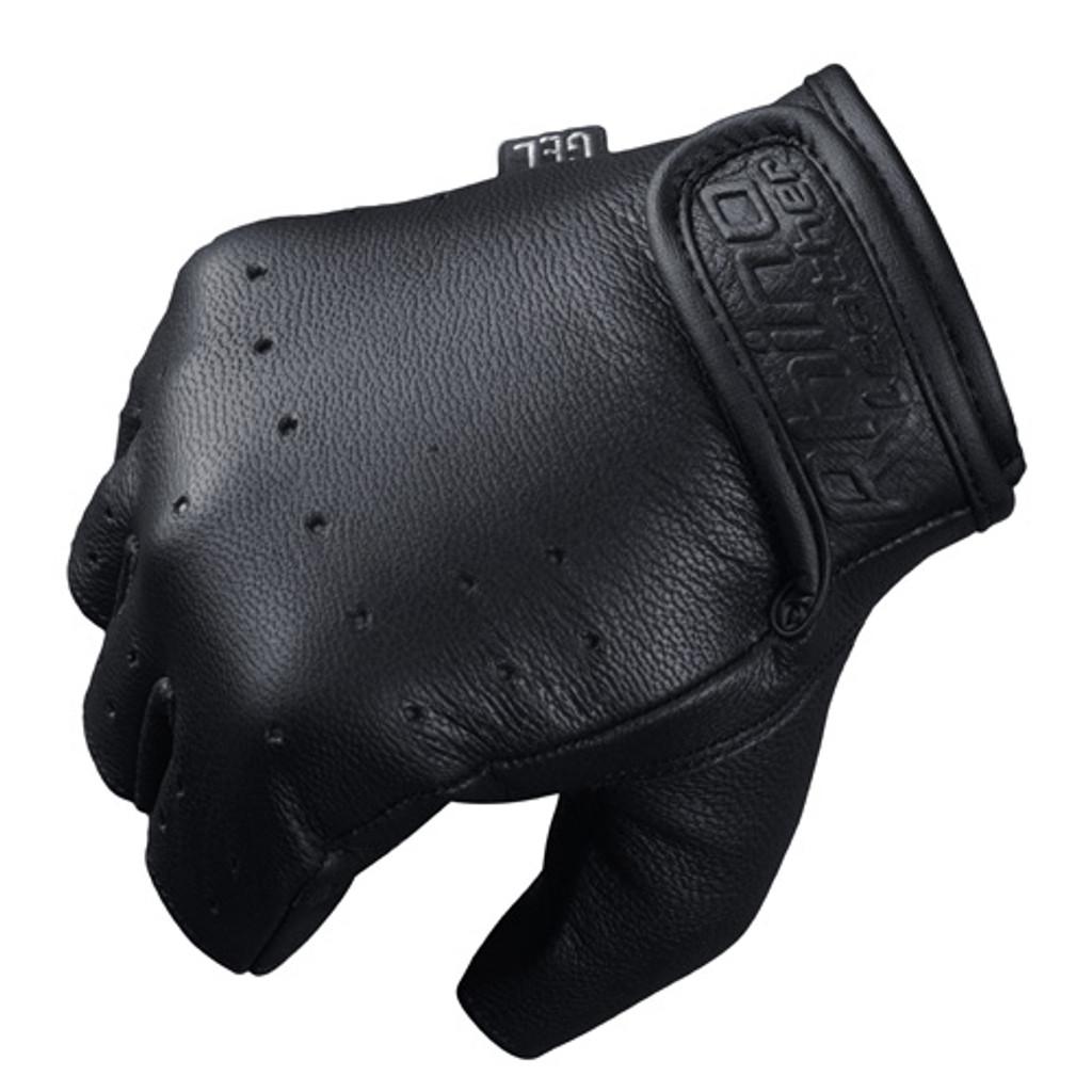 Premium leather finger less gloves