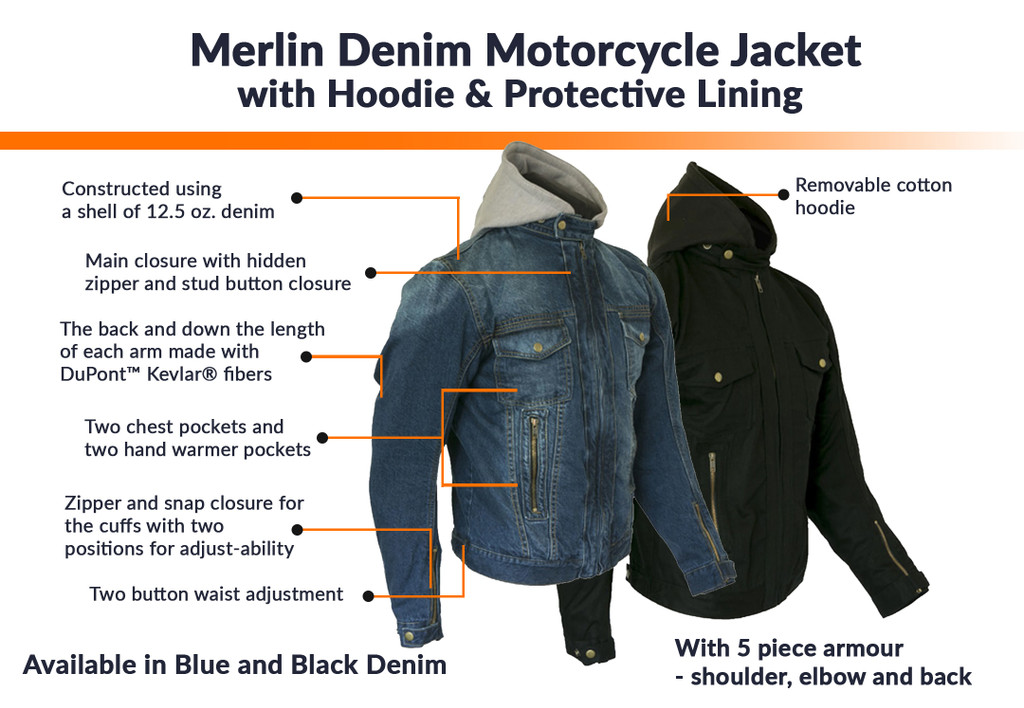 Merlin Denim Motorcycle Jacket Gets $30 off until 30-Nov-2019
