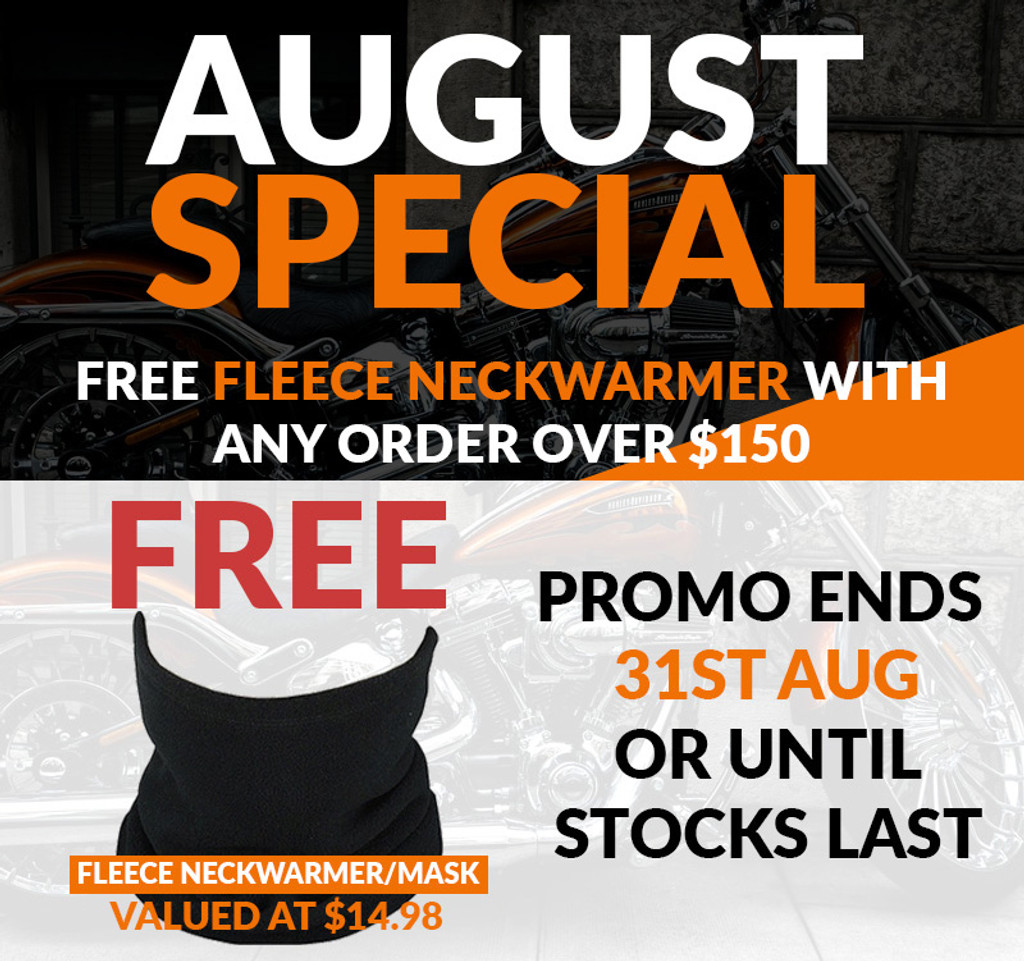 August Special - Free Fleece Neckwarmer with $150 Spend