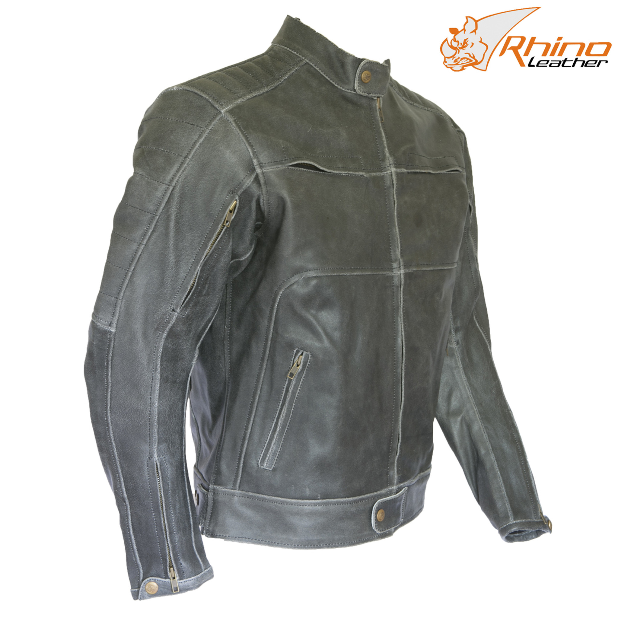 Vintage Leather Jacket >> Black Vintage Leather Motorcycle Jacket For Motorbike Rider