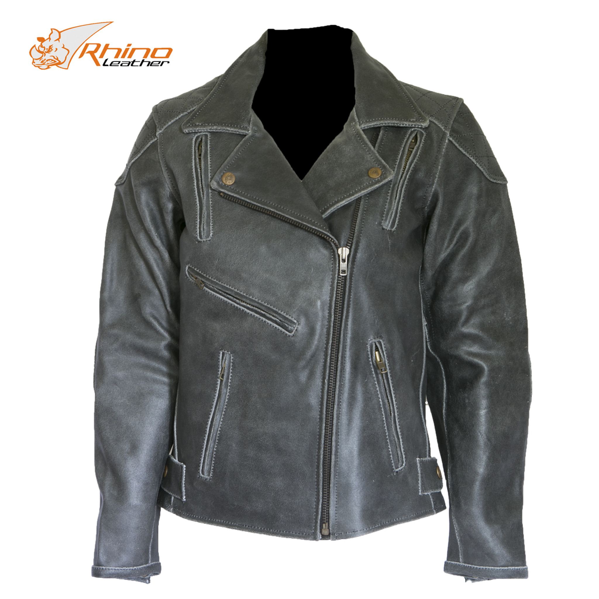 Diana Women S Black Vintage Distressed Leather Motorcycle Jacket