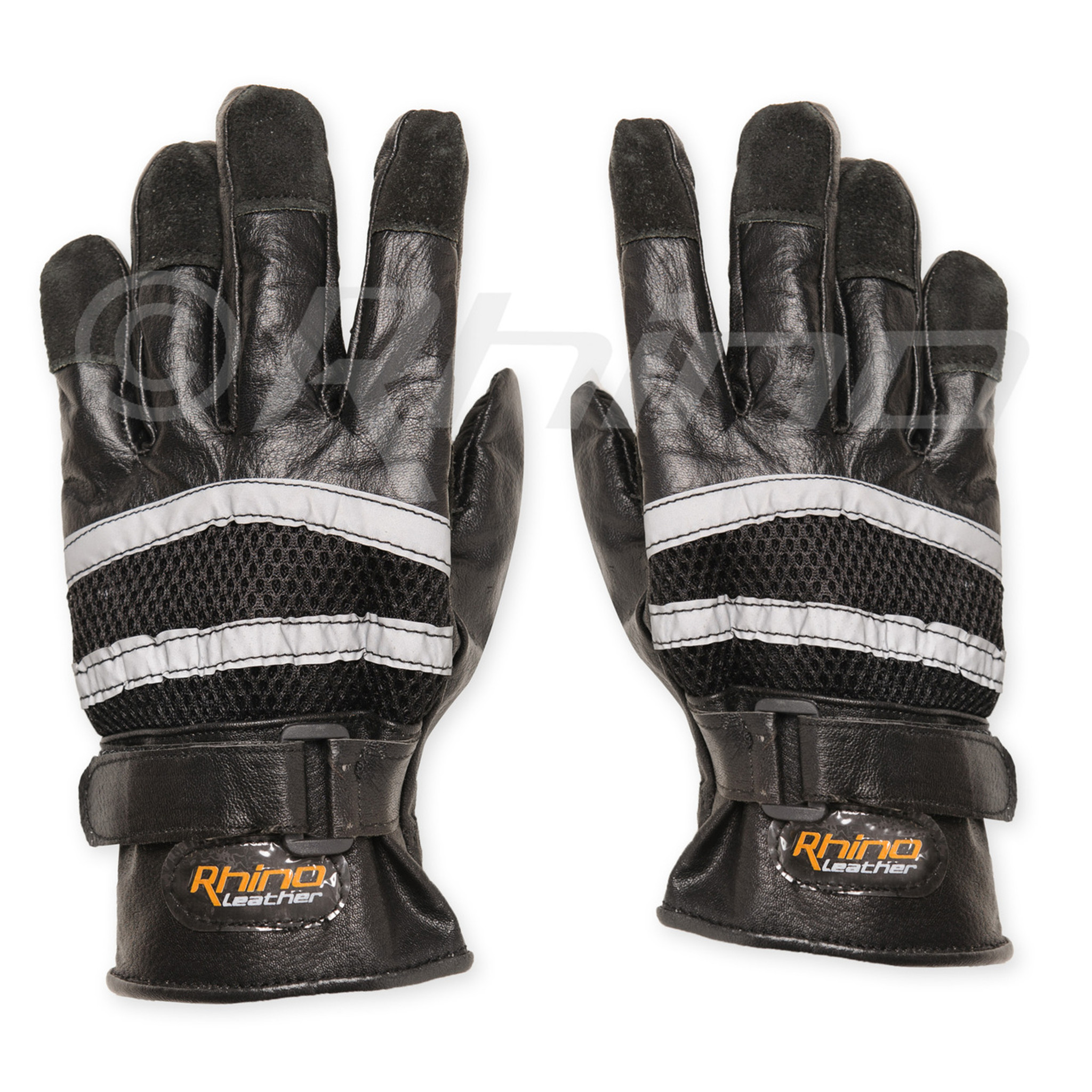 b8ee4879949b5 Mens Motorbike Leather gloves with reflective full Finger Cruiser