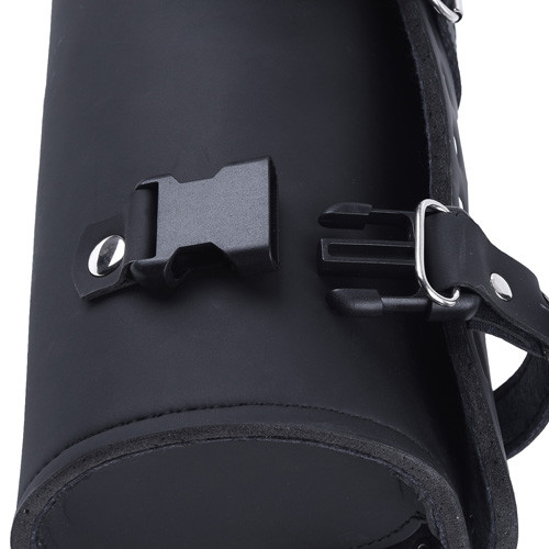 Studded Round Recon Leather Tool Bag