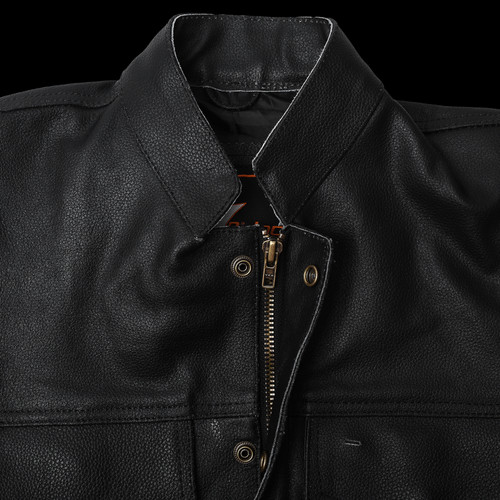 Sons of Anarchy Style Leather Vest - neck lock