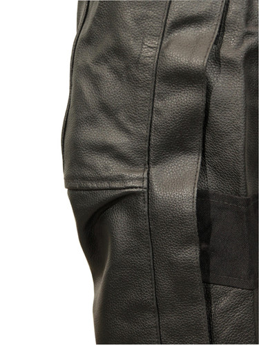 Leather biker pants - knee view