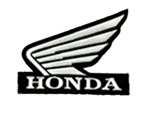 HONDA Black & White Wings Logo Biker Embroidered Patch