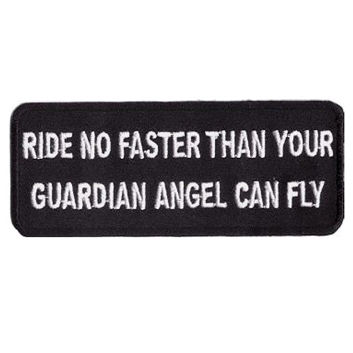 Ride No Faster Embroidered Patch