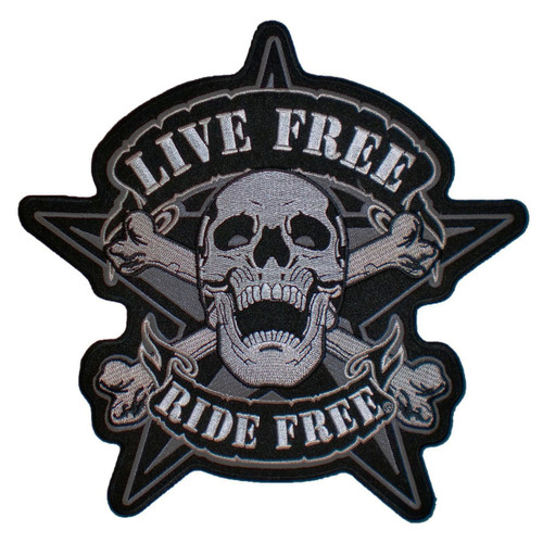 Live Free Ride Free Embroidered Motorcycle Patch