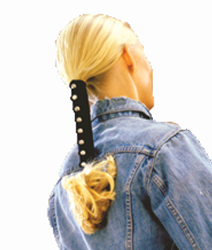Leather Hair Glove, Pony Tail Wrap