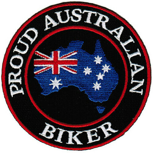 Proud Australian Biker Embroidered Patch