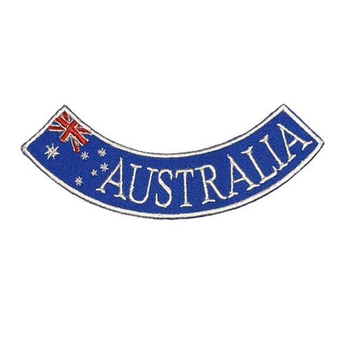Australia Red White Blue Bottom Rocker Biker Embroidered Patch