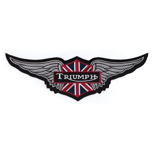 Triumph Motorcycle Embroidered Patch -Wings Large