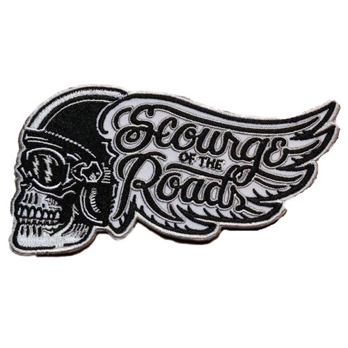 Skull Scourge of the roads Embroidered Patch