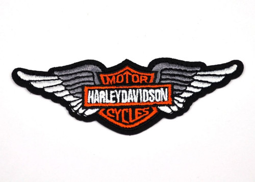 Harley Davidson silver angel wings - embroidered patch