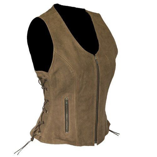 Womens Brown Leather Vest
