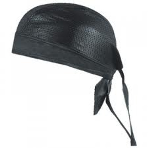 Leather Do-Rag Skull Cap - perforated