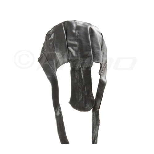 Leather Do-Rag Skull Cap - back
