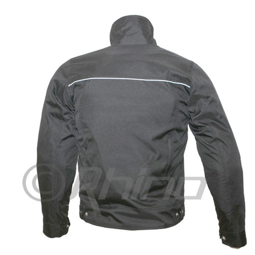 Invictus Black Cordura Moto Jacket with Vents & Armour
