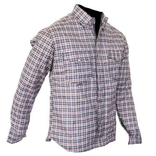 Conquest Fully Lined DuPont™ Kevlar® Lined Shirt Navy and Red