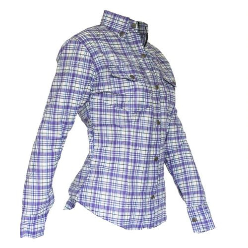 Womens Fully Lined DuPont™ Kevlar® Lined Shirt Purple and white