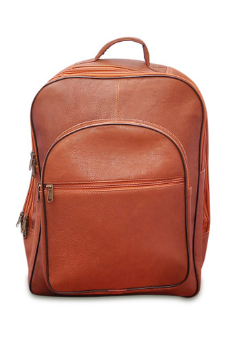 Tan Leather Laptop Backpack