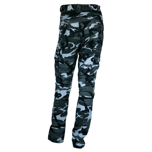 Mens Camouflage Cotton Motorcycle Cargo Pants