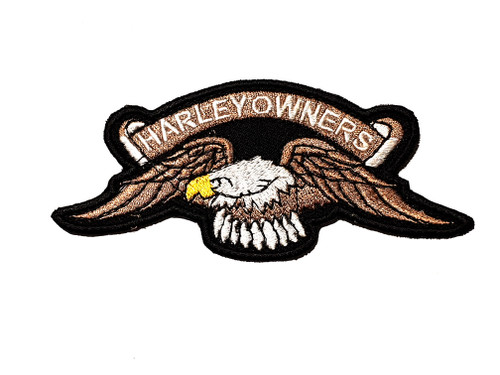 Harley Owners Eagle Yellow Beak Embroidered Patch