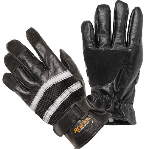 Reflective Full Finger Cruiser Leather Gloves - Discontinued