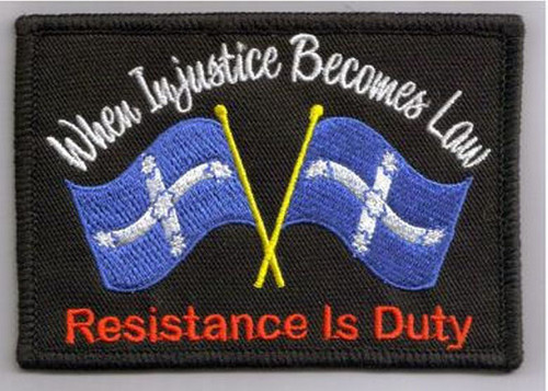 Motorcycle Riders Resistance Is Duty Embroidered Patch